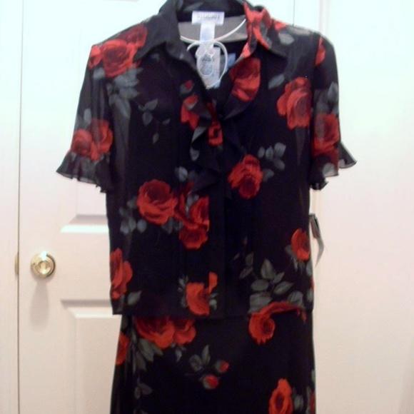 BNWT MATERNITY Pretty Lace Detail Sleeveless Dress Matching Jacket Size 14
